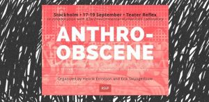 In September 2015 Henrik Ernstson co-organized with Erik Swyngedouw a seminar on emancipatory urban politics at a theatre in Stockholm. The seminar and book project is called 'Rupturing the Anthro-Obscene'.