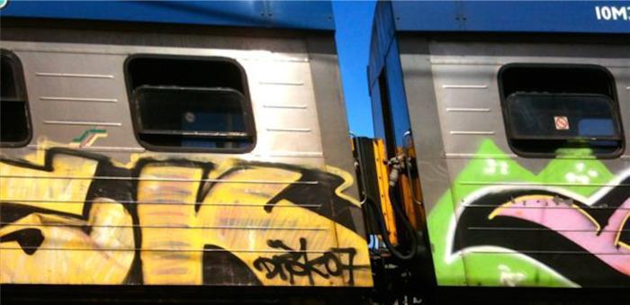 Train in Muizenberg.