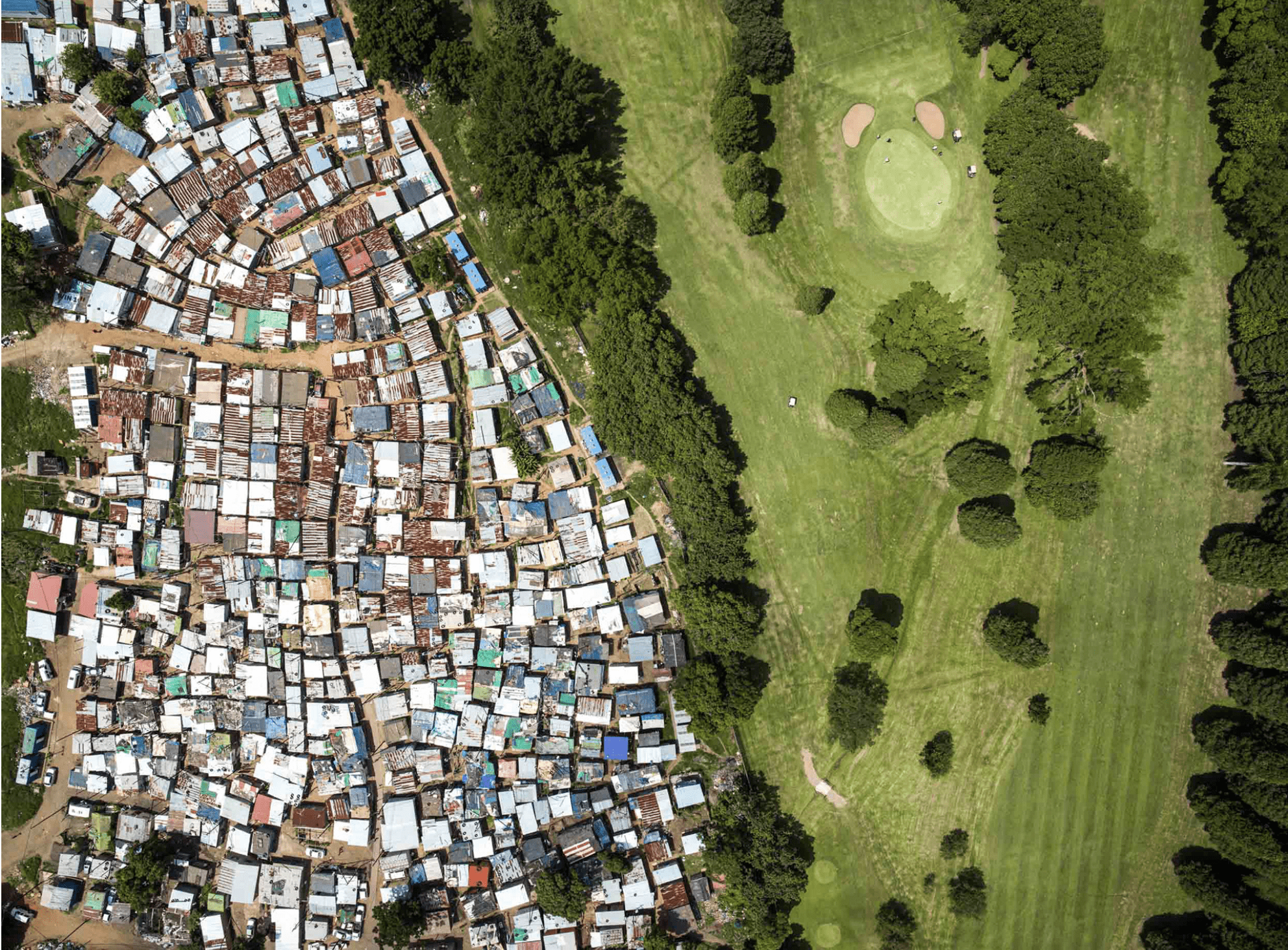 Unequal Scenes by photographer Johnny Miller.