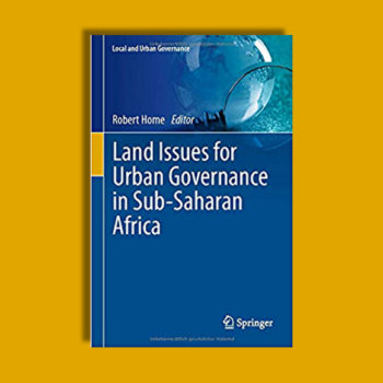 New book explores issues of land and urban governance in Africa